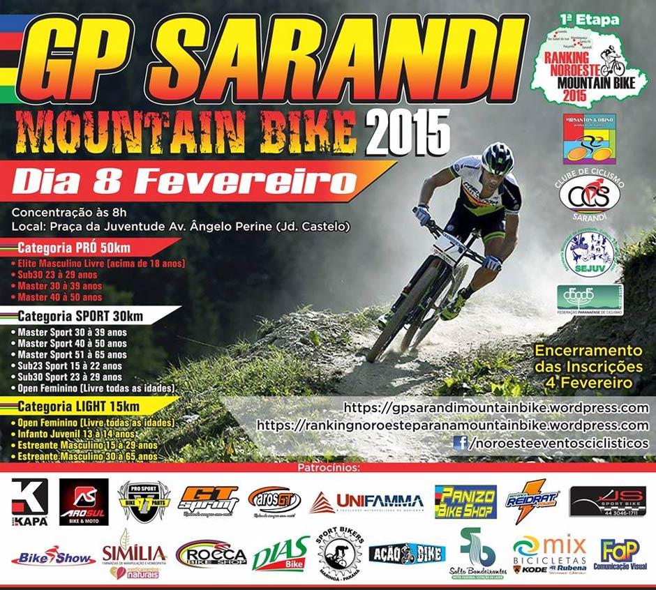 3º GP Sarandi de Mountain Bike - Disposição